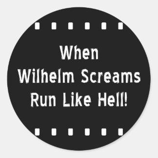 Der Wilhelm-Schrei Runder Aufkleber