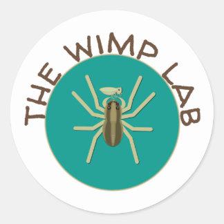 Der wimp-Labrador-Aufkleber Runder Aufkleber