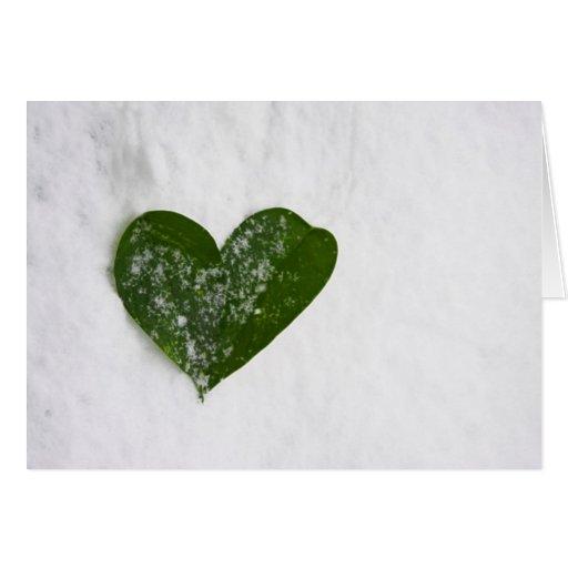 Der Winter-Schnee-romantisches Herz der Natur der  Grußkarte