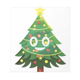 Der wirkliche Emoji Weihnachtsbaum Notizblock