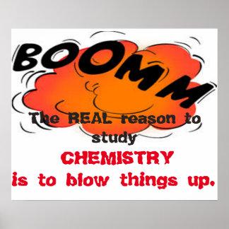 Der wirkliche Grund, Chemie zu studieren Poster
