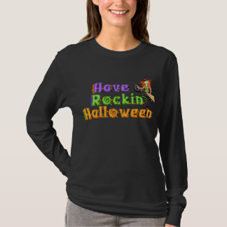 Der Witchy Rockin Halloween der Frauen T - Shirt
