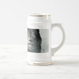 Der Wolf des Winters Bierglas