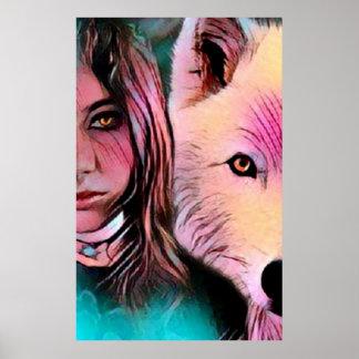 Der Wolf nach innen Poster