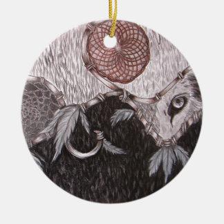Der Wolf passt auf Keramik Ornament
