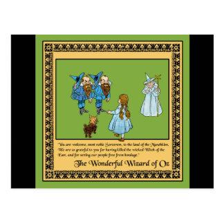 Der wunderbare Zauberer von Oz Postkarte
