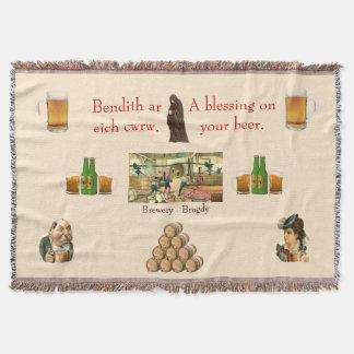 Der Wurfs-Decke des Bier-Liebhabers
