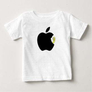 Der Wurm mag den Apfel Baby T-shirt