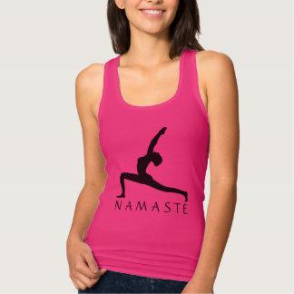 Der Yoga-Pose-Silhouette-Frauen verurteilen Tanktop
