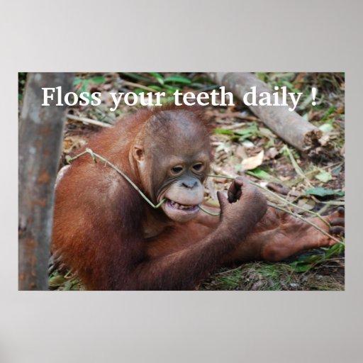 Der Zahnarzt der Zahn-Sorgfalt-Glasschlacken-Kinde Poster