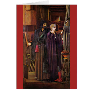 """Der Zauberer"", durch Edward Burne-Jones Grußkarte"