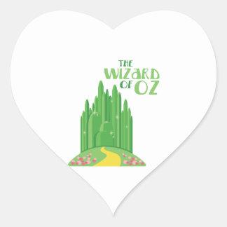 Der Zauberer von Oz Herz-Aufkleber