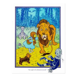 Der Zauberer von Oz: Sie sollen beschämt sein! Postkarte
