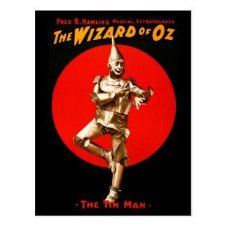 Der Zauberer von Oz - Vintages Theaterplakat Postkarte
