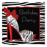 Der Zebra-Geburtstags-Party Einladungen der Frau