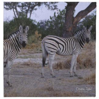 Der Zebra Spätzundung Foto Serviette