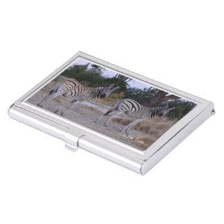 Der Zebra Spätzundung Foto Visitenkarten Etui