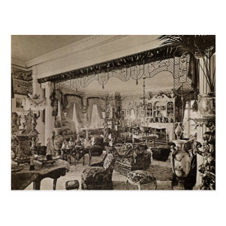 Der zeichnende Raum, Wickham Hall, Kent, 1897 Postkarte