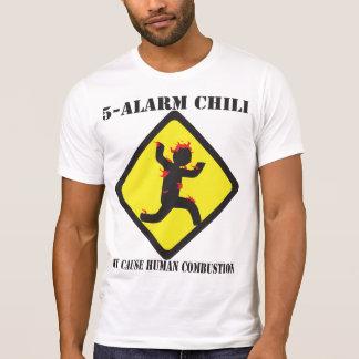 Der zerstörte T - Shirt 5 Warnungs-Chili-Männer