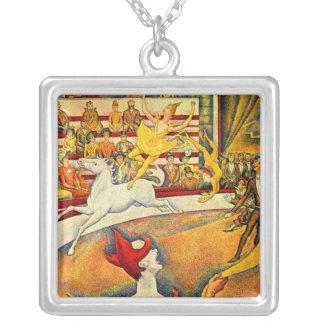 Der Zirkus durch Georges Seurat, Vintager Versilberte Kette
