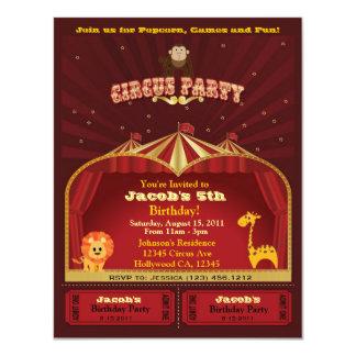 Der Zirkus-Geburtstags-Party Einladung des Kindes