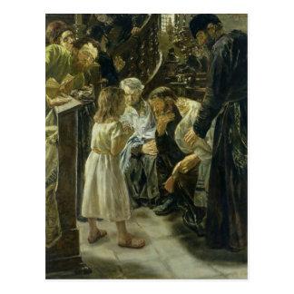 Der zwölfjährige Jesus im Tempel, 1879 Postkarte