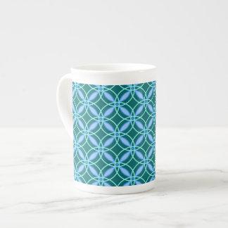 Der Zyklus von Caffeination (blau) Porzellantasse