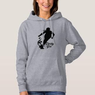 Derby-Mädchen-Silhouette, Rollen-Derby-Skaten Hoodie