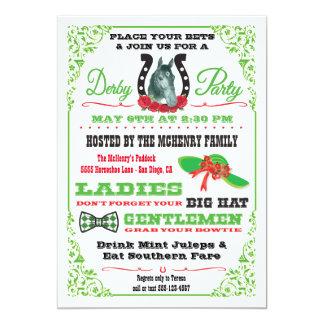 Derby-PferdelaufenParty Einladung
