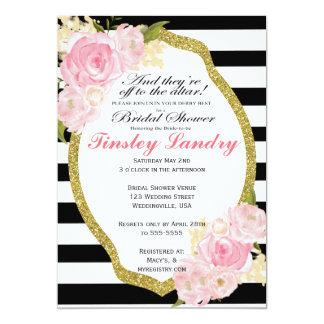 Derby-Thema-Brautparty-Einladung Karte