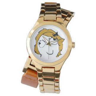 Derpina kundenspezifisches Goldumgriffsuhr Armbanduhr