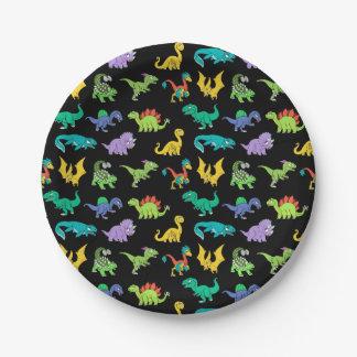 Derpy Dinosauriermuster Pappteller