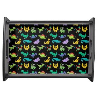 Derpy Dinosauriermuster Tablett
