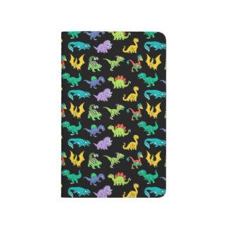 Derpy Dinosauriermuster Taschennotizbuch