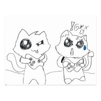 Derpy Katz Spielen Postkarte