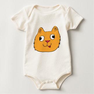 Derpy Katze Baby Strampler