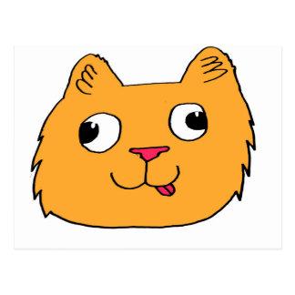 Derpy Katze Postkarte