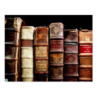Des 18. Jahrhundertslederne verbindliche Bücher de Postkarten