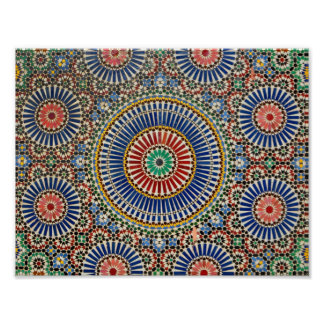 des arabischen religiöses Muster Mosaik-Islams Poster