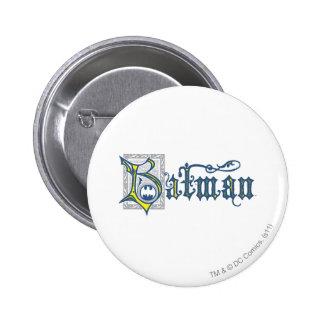 Des Batman-| städtisches gelbes Logo Legenden-der Runder Button 5,7 Cm