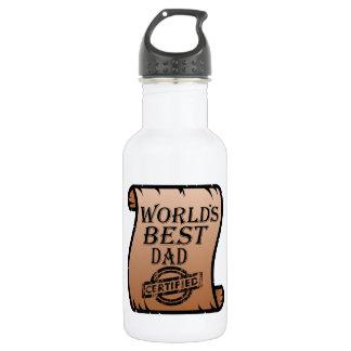 Des DayWorlds des Vaters bester Vati zugelassenes Edelstahlflasche
