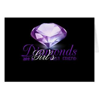 Des Diamanten sind der beste Freund des Mädchens Karte