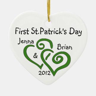 Des ersten St Patrick des Paares Tagesverzierung Ornamente