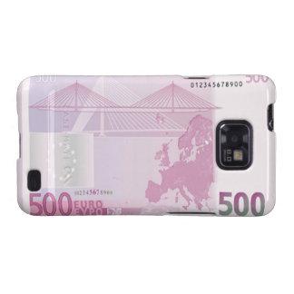 Des Euro-500 Kasten Banknoten-Rückseiten-Samsung-G Galaxy S2 Cover