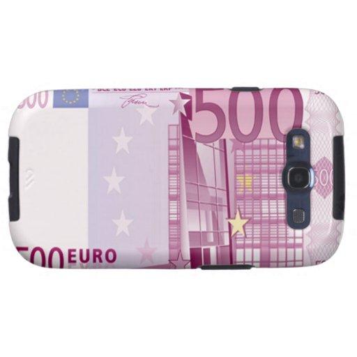 Des Euro-500 Kasten Banknoten-Samsung-Galaxie-S Galaxy SIII Etuis