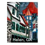 Des Ferienparadieses Helens GA Georgia-Kunst Stadt Postkarten