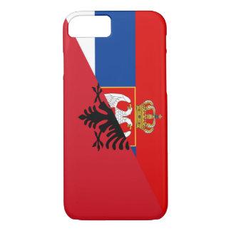 des Flaggen-Landes Serbiens Albanien halbes Symbol iPhone 8/7 Hülle