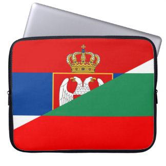 des Flaggen-Landes Serbiens Bulgarien halbes Laptopschutzhülle