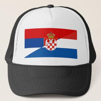 des Flaggen-Landes Serbiens Kroatien halbes Symbol Truckerkappe