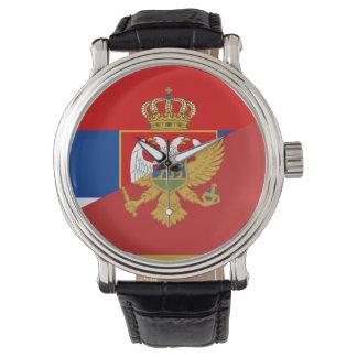des Flaggen-Landes Serbiens Montenegro halbes Armbanduhr
